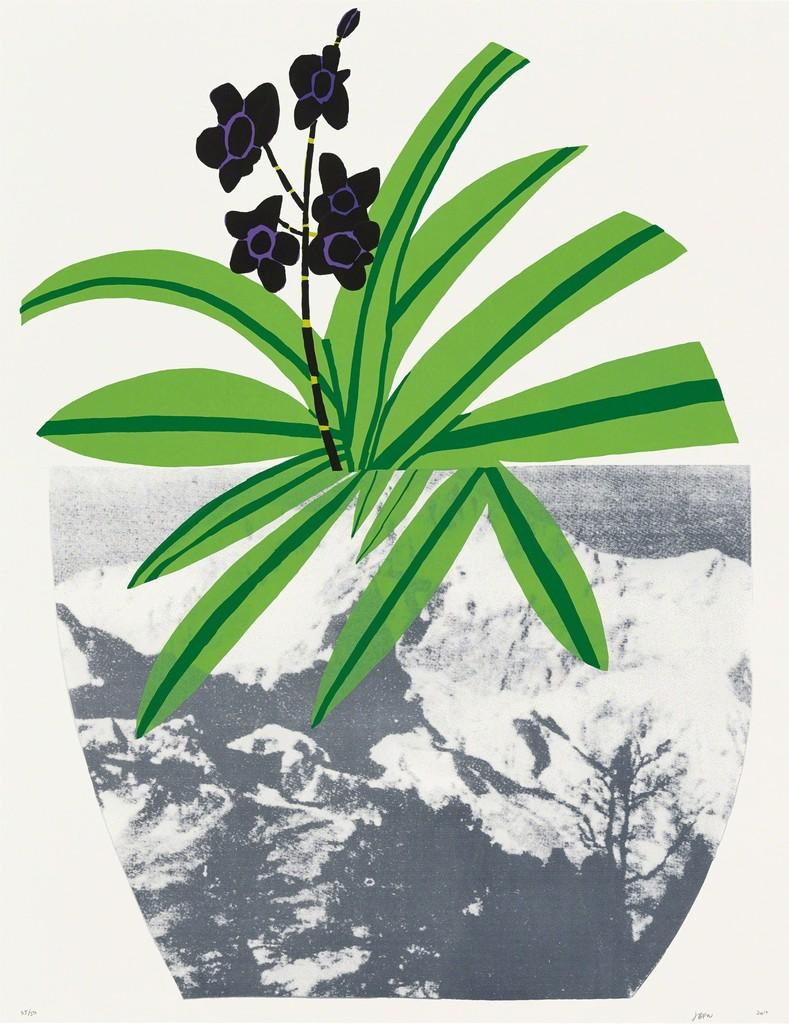 Untitled (Purple, 2014) By Jonas Wood