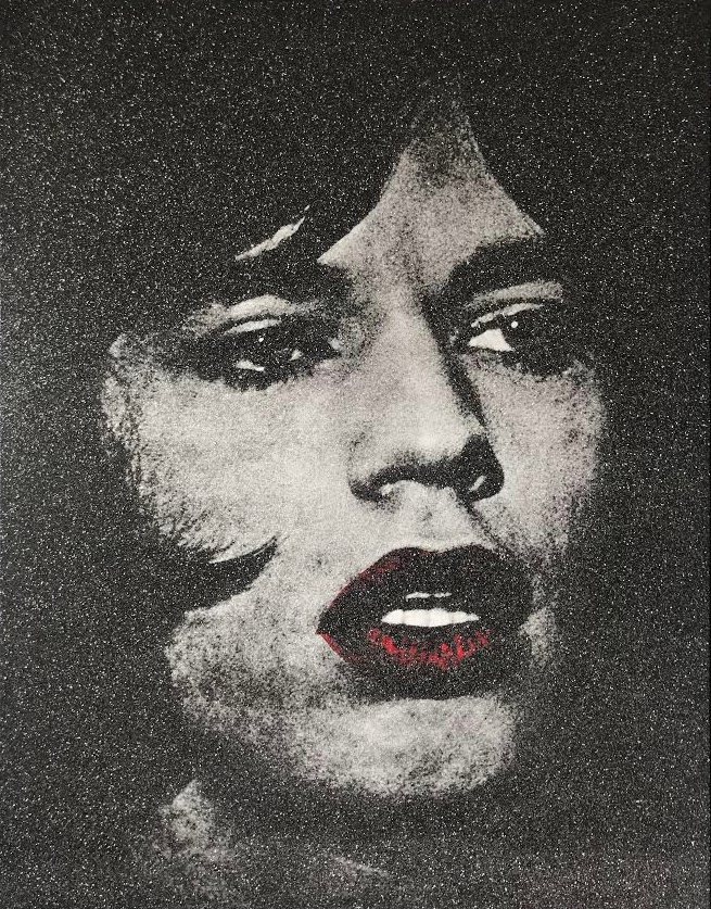 mick jagger red lips (pink)