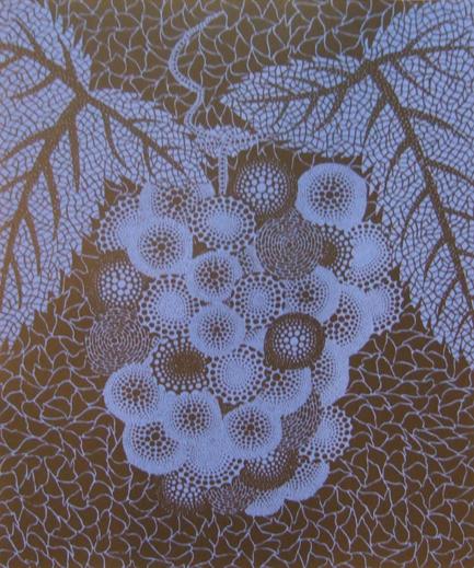 grapes by yayoi kusama