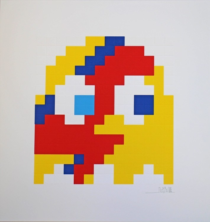 Aladdin Sane Clyde (Yellow) by Invader
