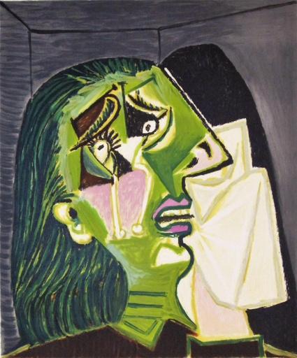 Femme Au Mouchoir by pablo Picasso