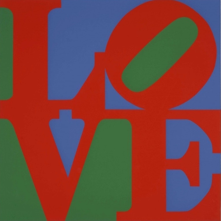 Love 1997 By Robert Indiana