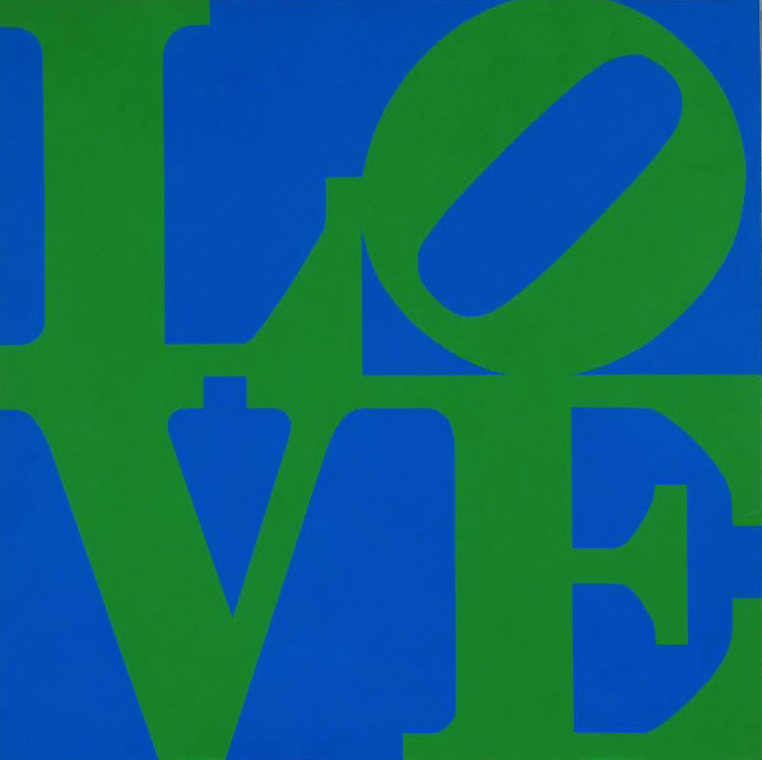love (Blue and Green) by Robert Indiana
