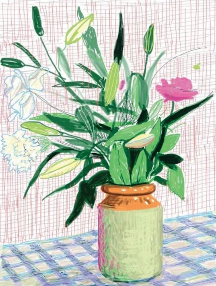 David Hockney Untitled iPad Drawing 516
