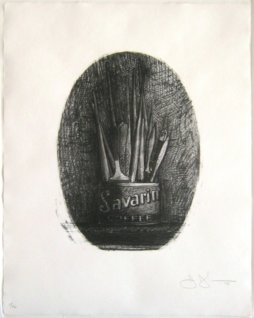 Savarin oval by Jasper Johns