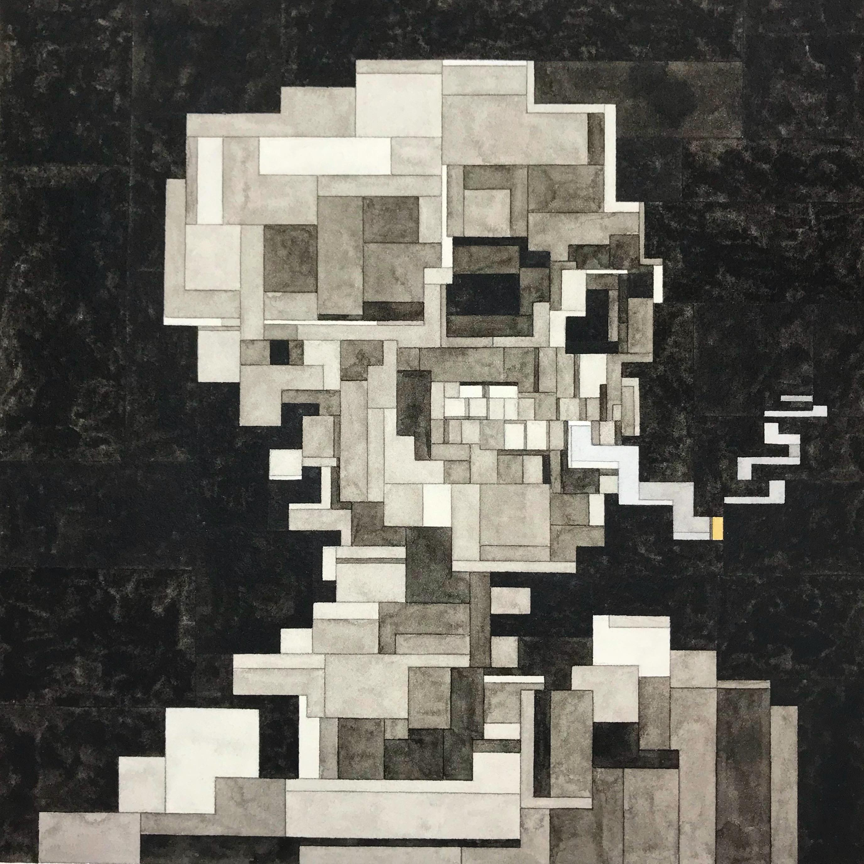 Van Gogh Skull with Cigarette by Adam Lister
