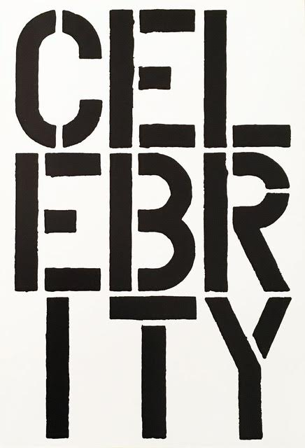 Celebrity – page from the Black Book by Christopher Wool