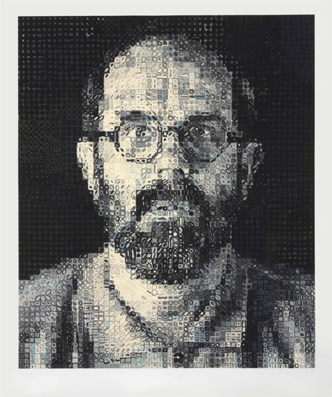 Self Portrait 1995 by Chuck Close