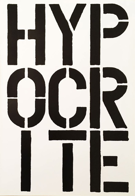 Hypocrite by Christopher Wool