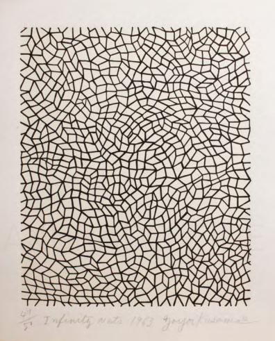 Infinity Nets (Black) by Yayoi Kusama