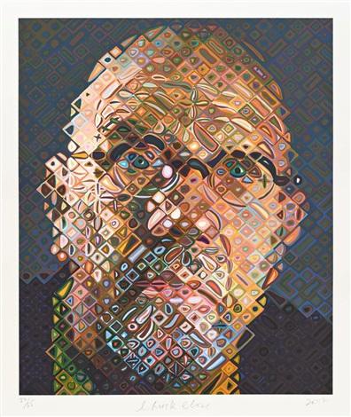 Self Portrait (2017) by Chuck Close