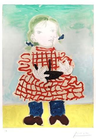 Portrait d'Une Fille Maya by Picasso
