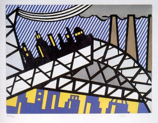 Bayonne En Entrant Dans NYC, from The Fall Of America by Roy Lichtenstein