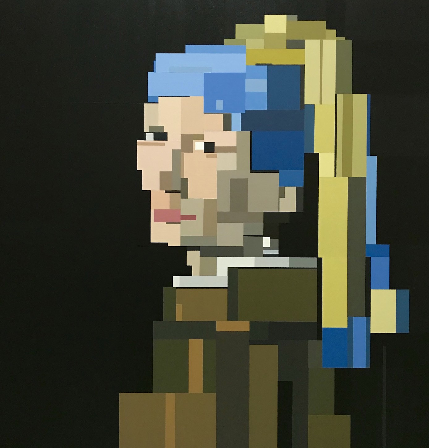 Girl With a Pearl Earring (after Vermeer) by Adam Lister
