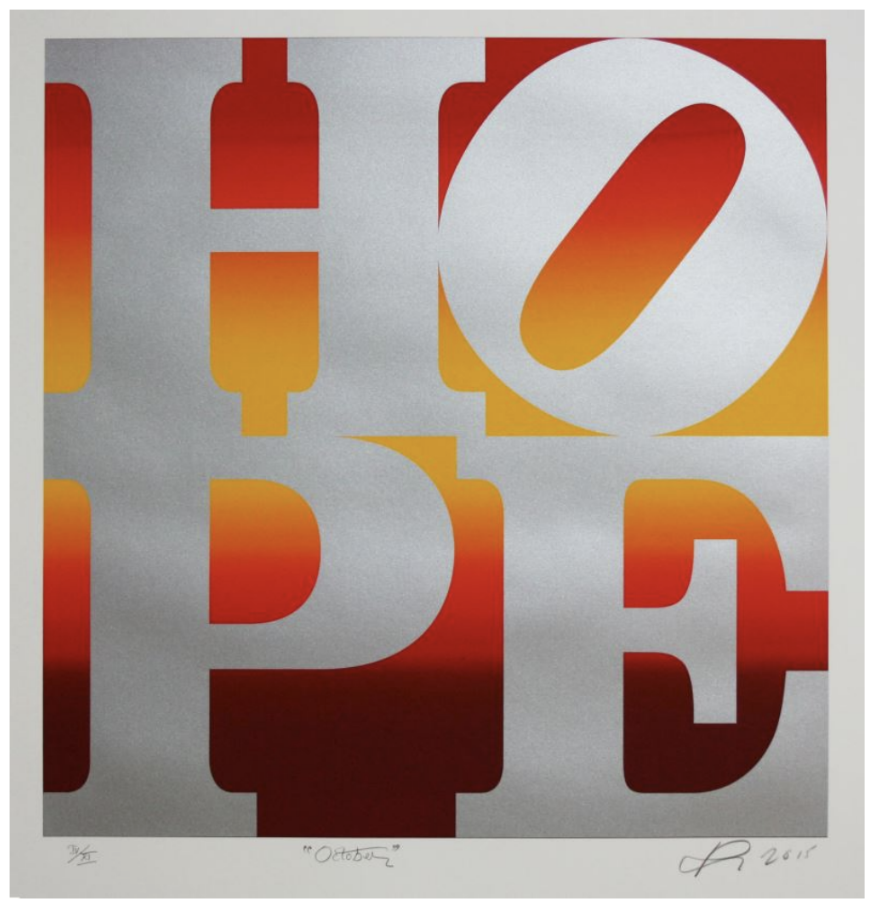 Hope (October) By Robert Indiana