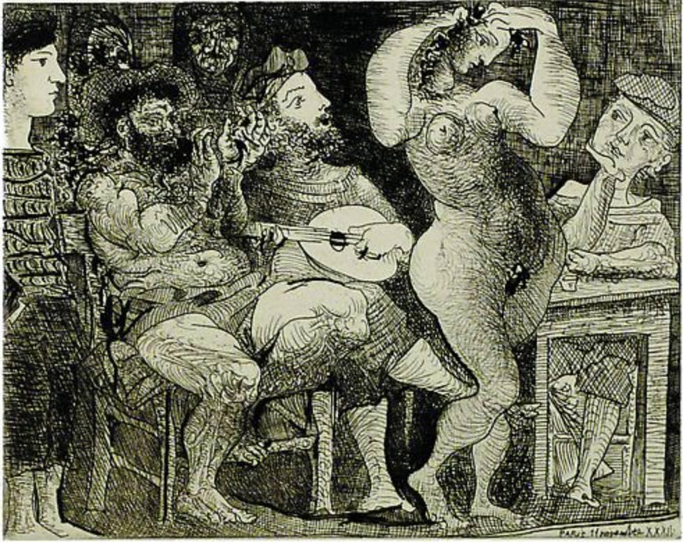 En la Taberna by Picasso