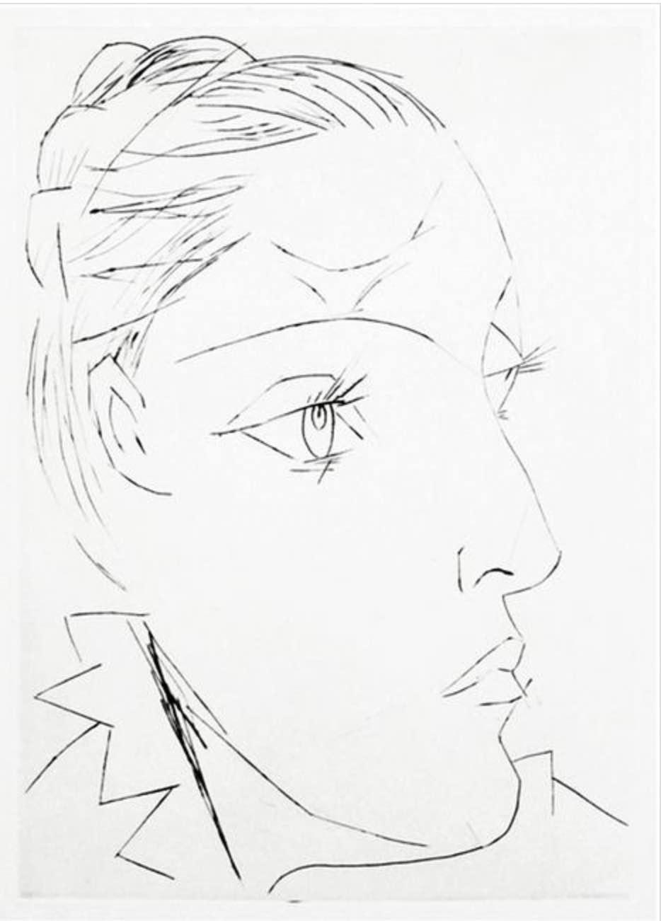 Portrait de Dora Maar au Chignon II by Picasso