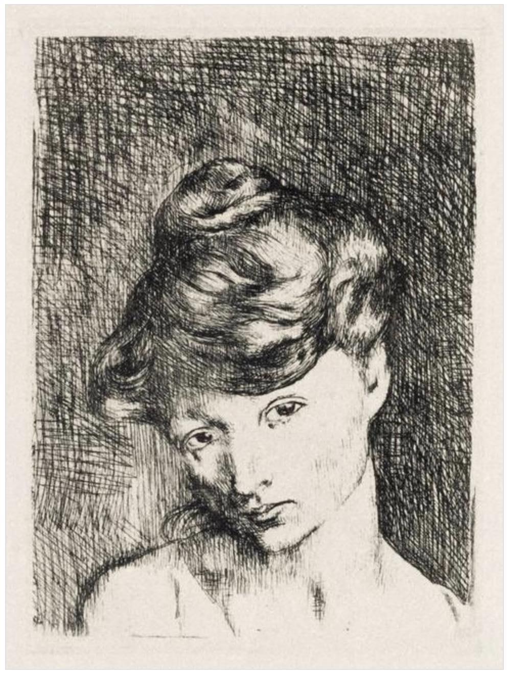 Tête de Femme (1905) By Pablo Picasso