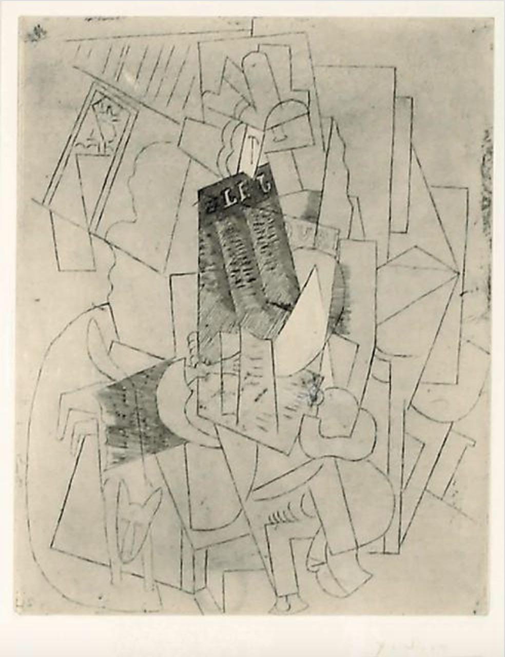 L'Homme au Chien by Pablo Picasso