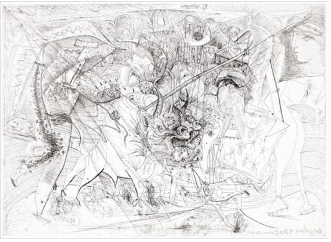 La Grande Corrida, aved Femme Torero by Picasso