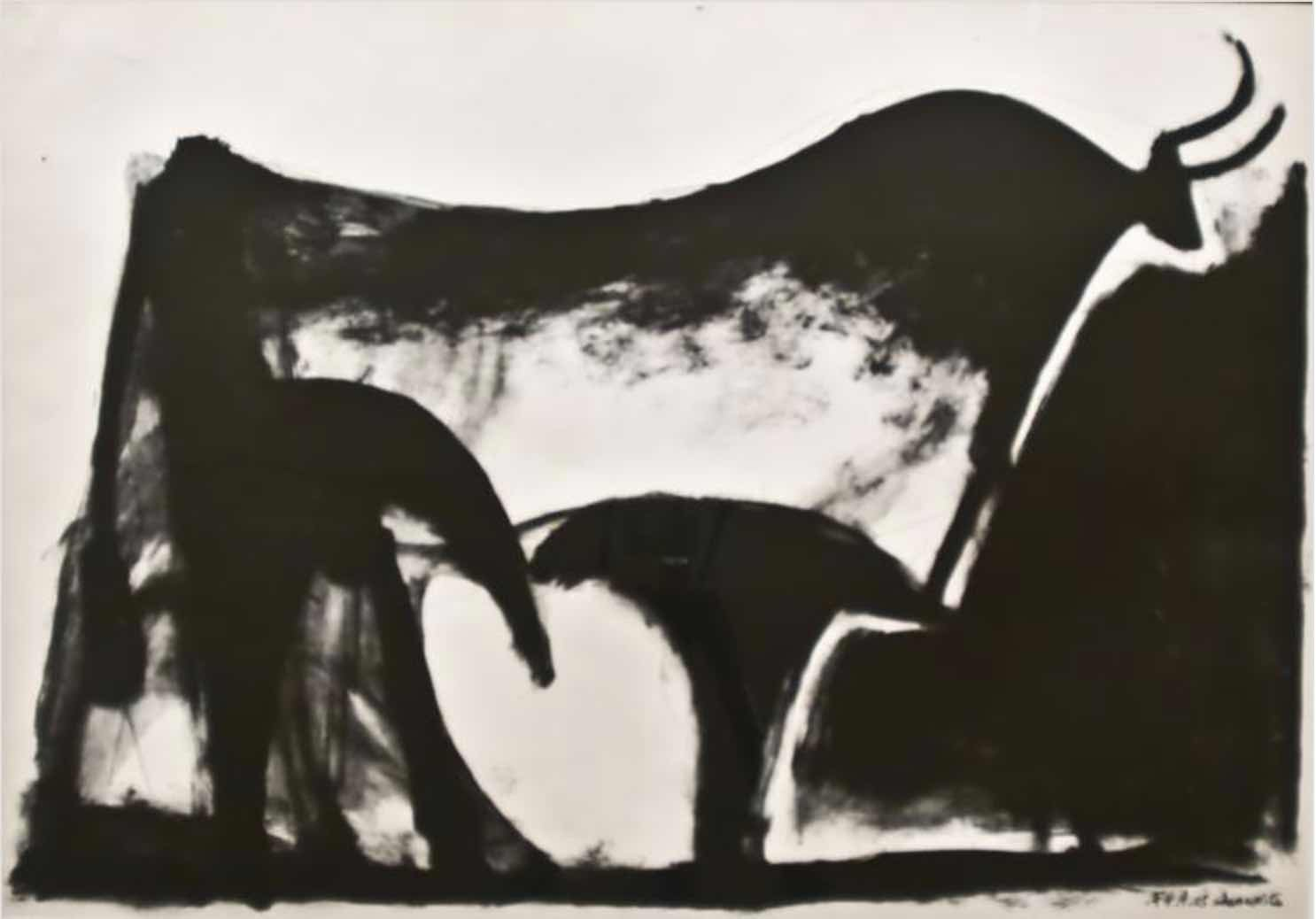 Le Taureau Noir by Picasso