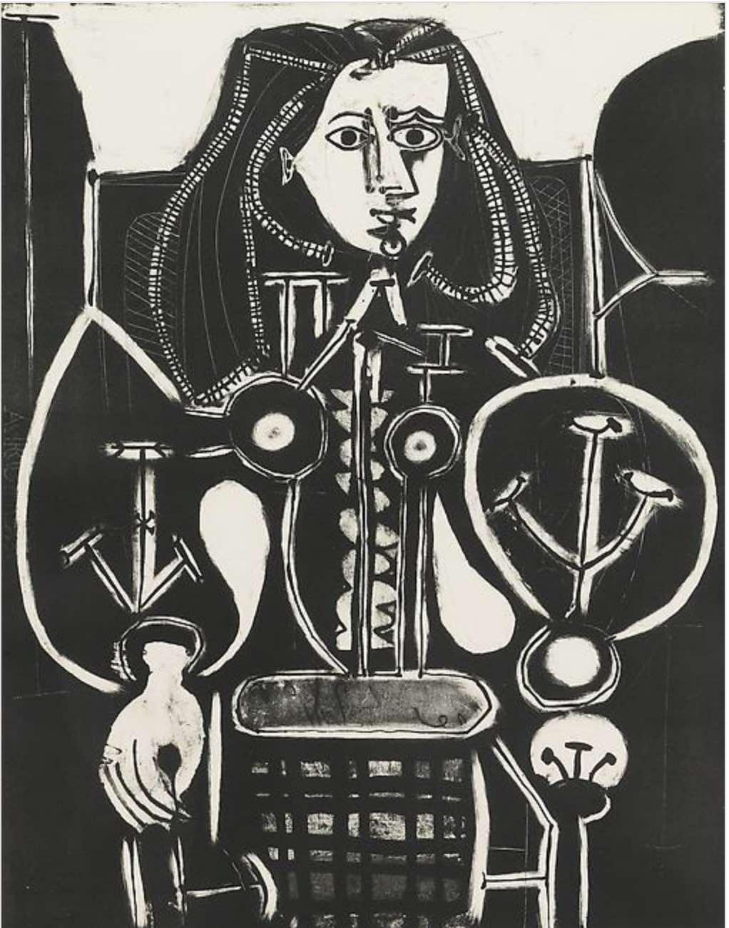 Femme Au Fauteuil No 4 (d'aprés le violet) by Picasso