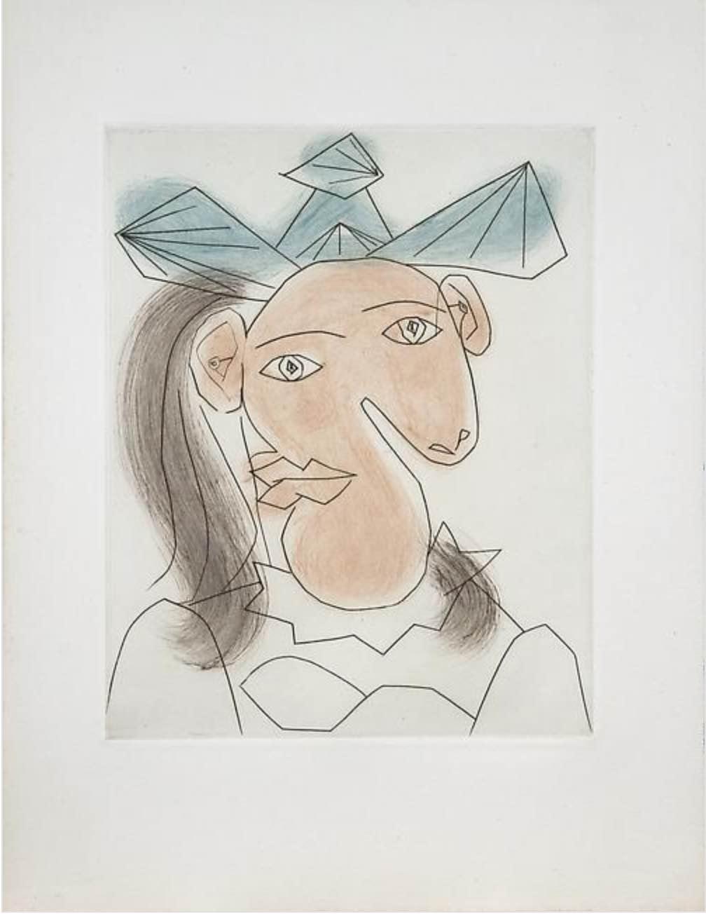 Tête de Femme 7 Portrait de Dora Maar By Picasso