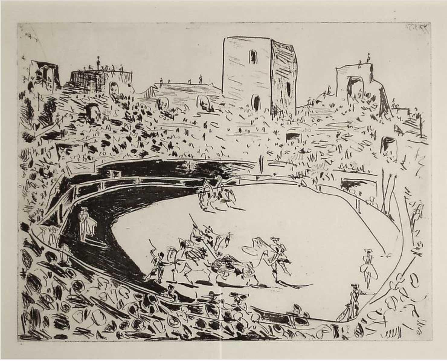 Corrida en Arles by Picasso