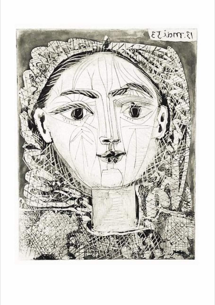 Portrait de Françoise à la Resille By Picasso