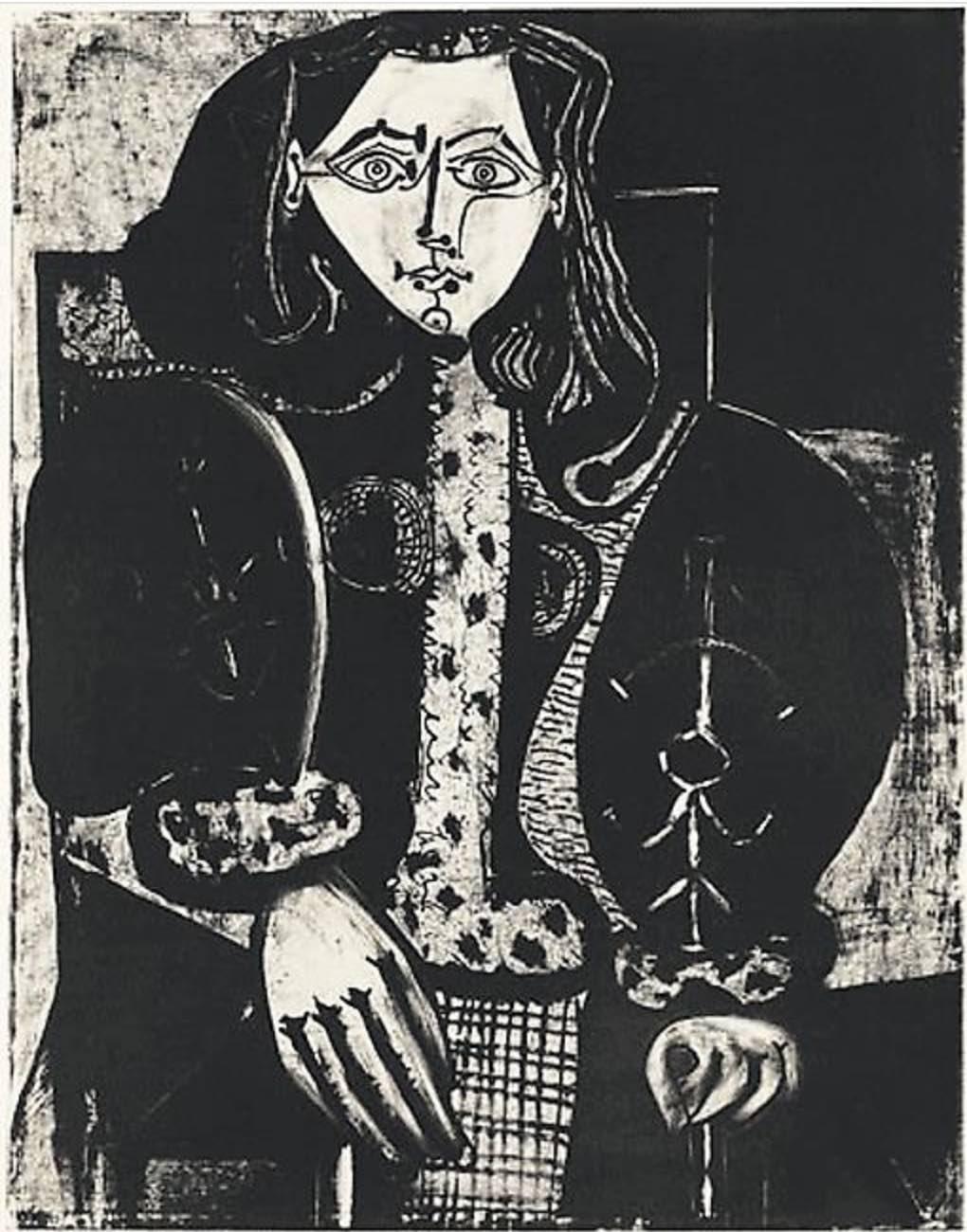 Femme au Fauteuil No 1 (d'après le rouge)