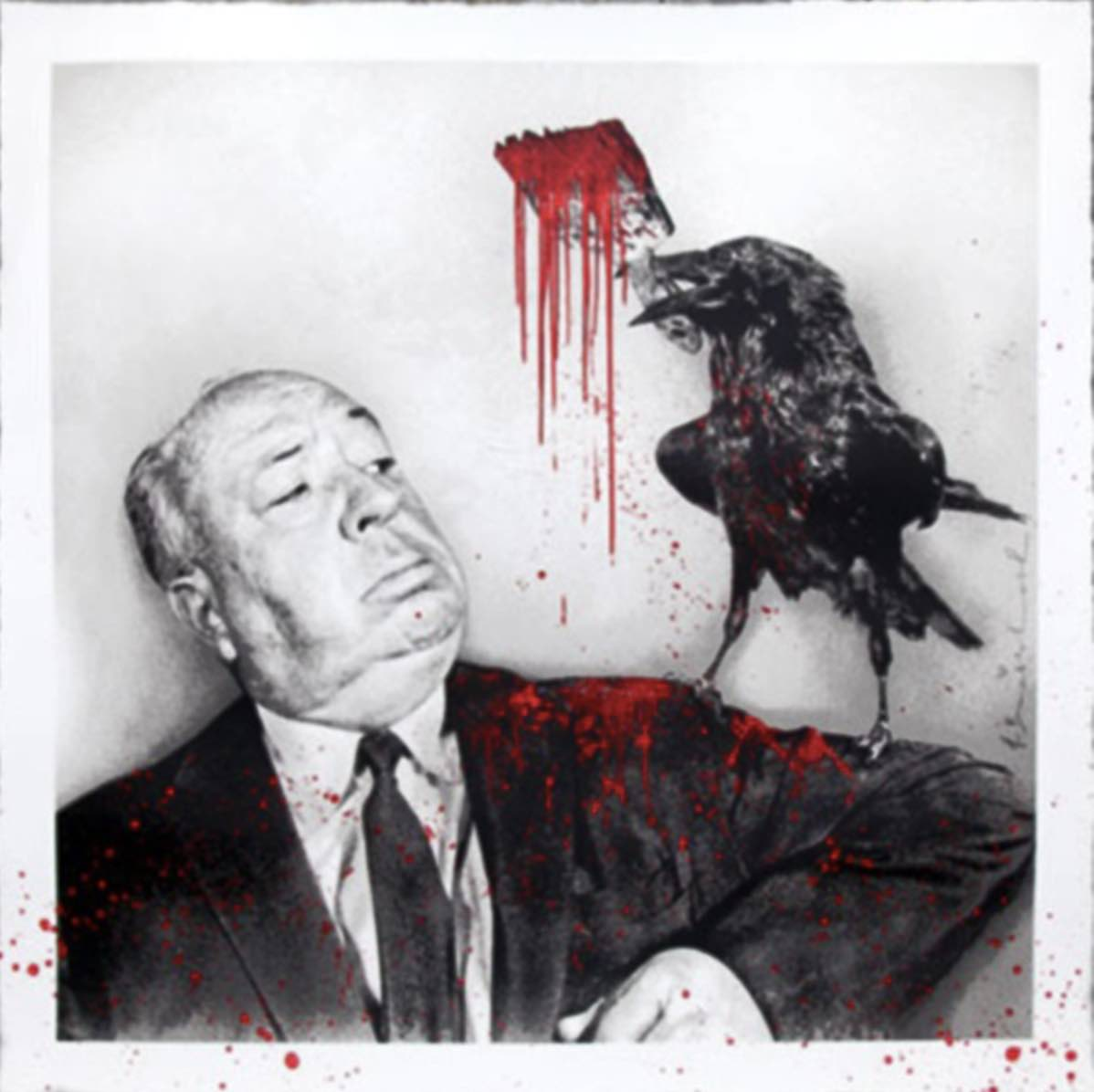 Hitchcock (red) by Mr.Brainwash