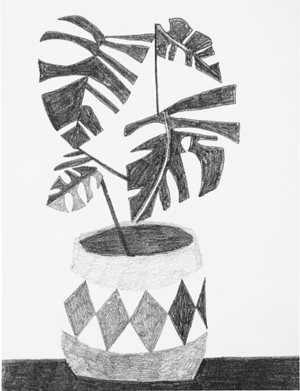 Untitled (Black and White) by Jonas Wood