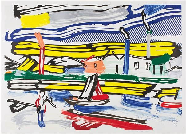 The River, from Landscapes by Roy Lichtenstein
