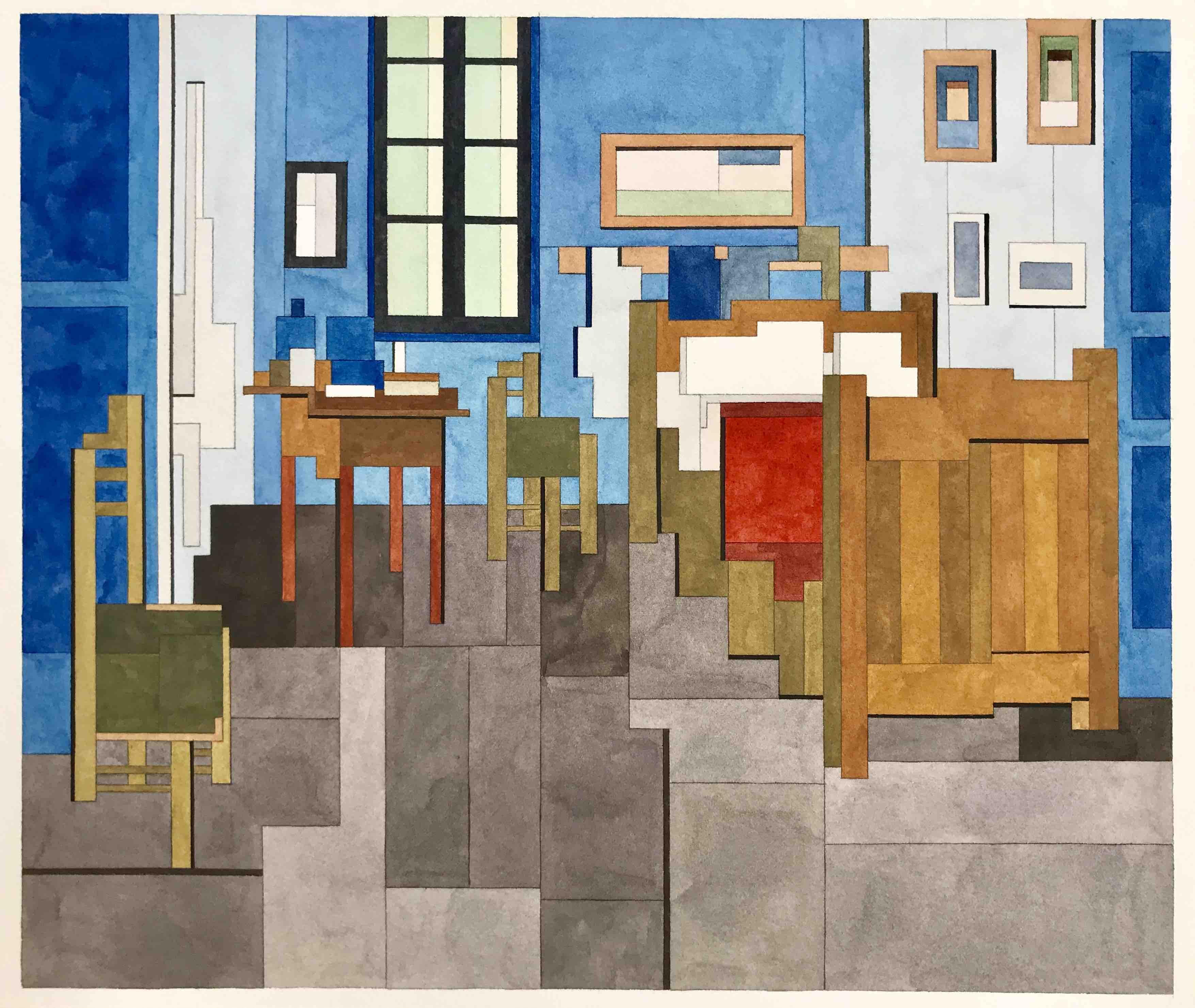 Living Room in Arles (after Van Gogh) by Adam Lister
