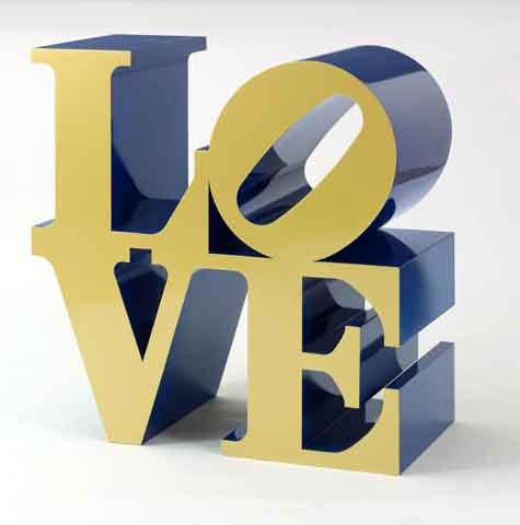 Love (Blue and Gold) By Robert Indiana