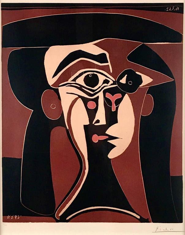Tete de Femme (chapeau) by Picasso
