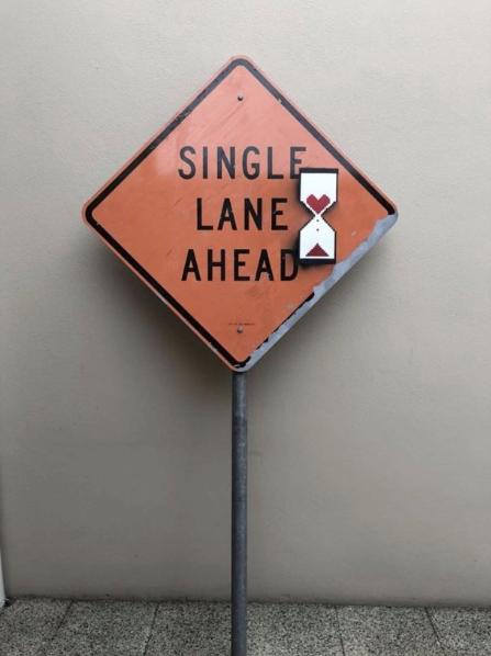 Single Lane Ahead by Banksy