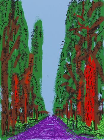 Untitled No. 5, Yosemite Suite, 2010 by David Hockney