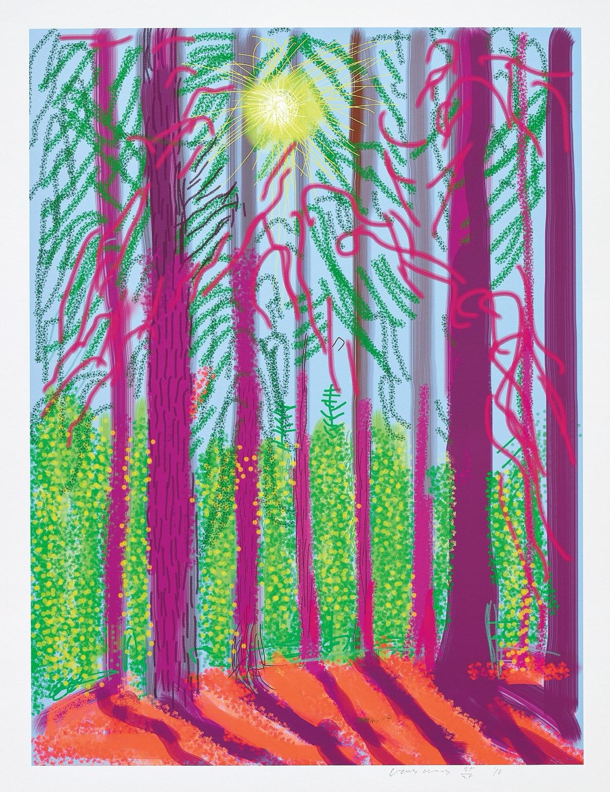 Untitled No. 4 Yosemite Suite by David Hockney