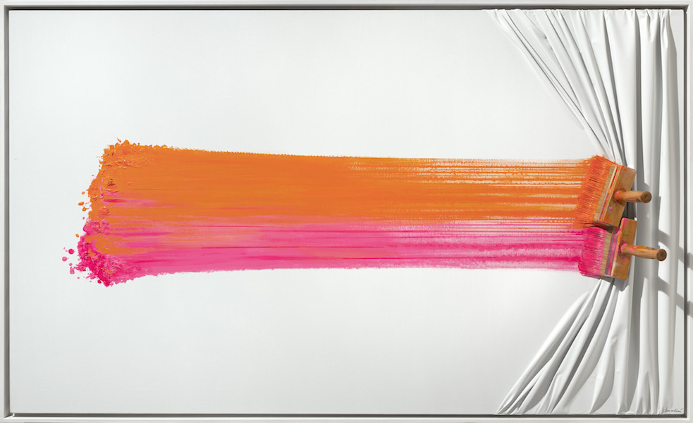 Double brush orange and pink by Jean Paul Donadini