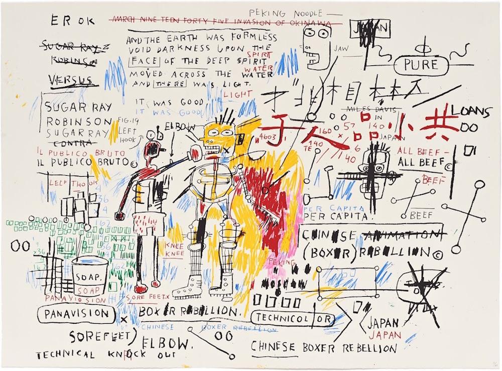 Jean Michel Basquiat Boxer Rebellion