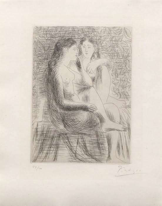 Deux Nus Assis by Picasso