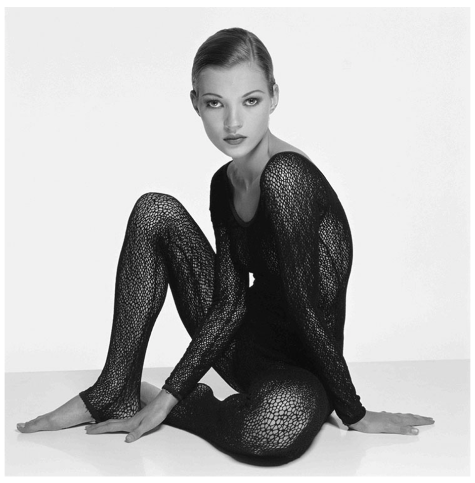 Kate Moss in Studio by Terry O'Neill
