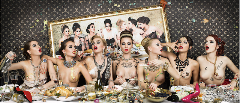 Luxury Topless Dinner by Philippe Shangti