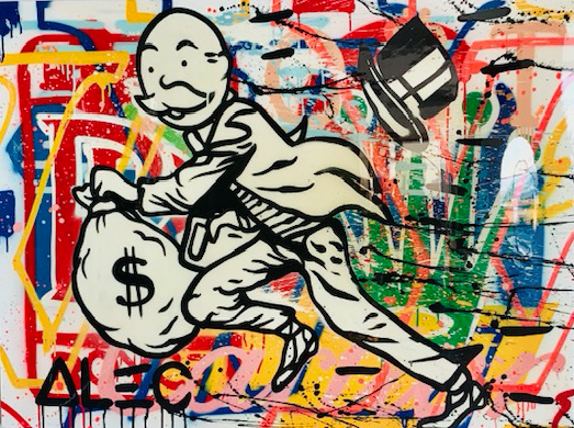 Running Monopoly Man, by Alec Monopoly
