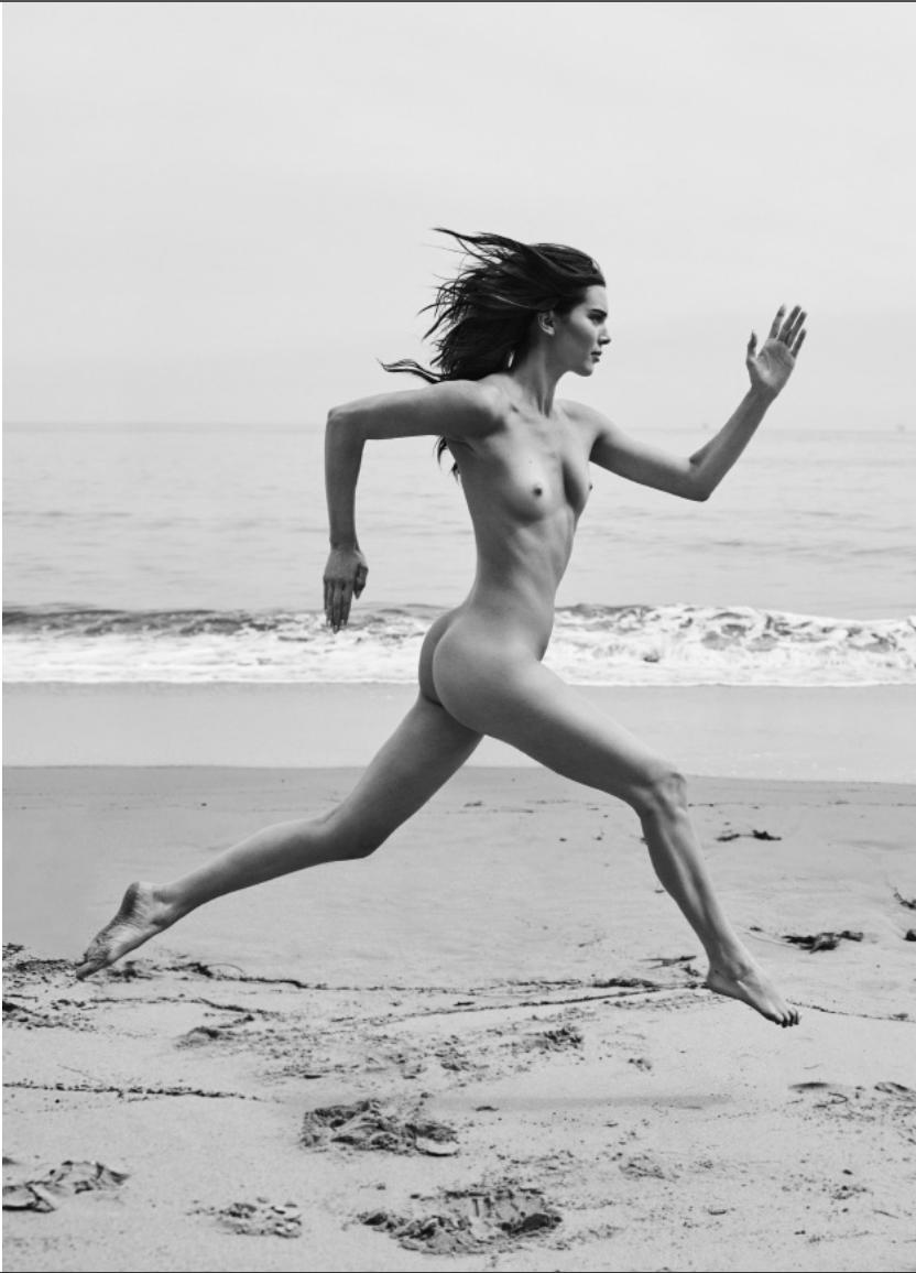 Kendall Running Santa Barbara Beach by Russell James