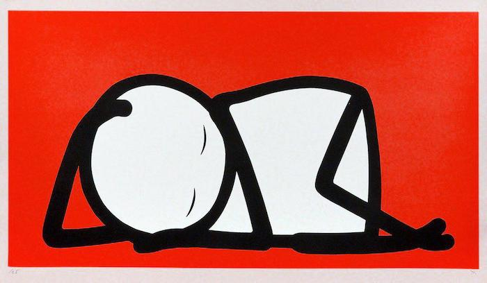 Sleeping Baby Red by STIK