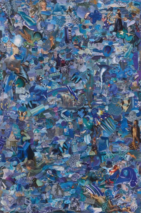 Repro (Monochromes): Blue by Vik Muniz
