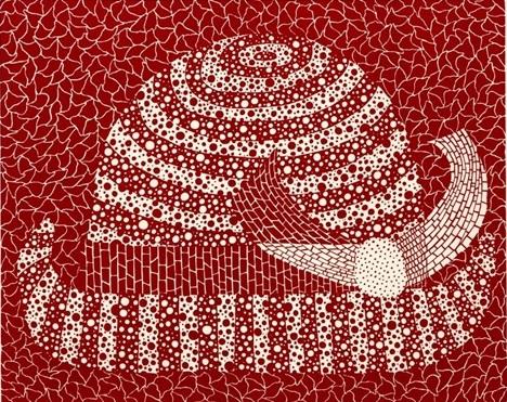Hat (Red) by Yayoi Kusama