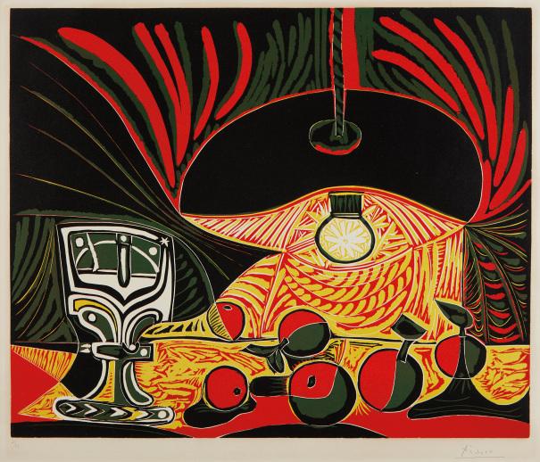 Nature Morte au Verre Sous La Lampe by Picasso